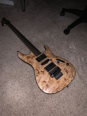 Ibanez S770PB Natural Flat Poplar Burl Top Natural Mint for Sale in Erie, CO
