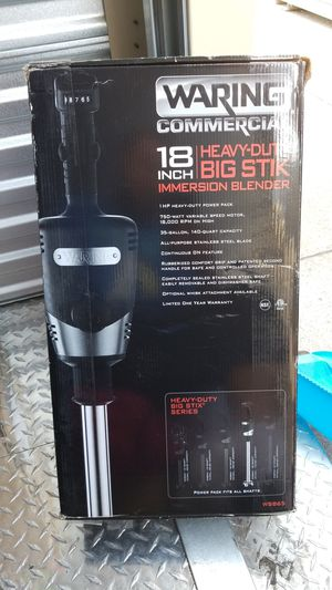 Waring commercial 18 inch hevy duty big stick immersion blender for Sale in Oakland, CA