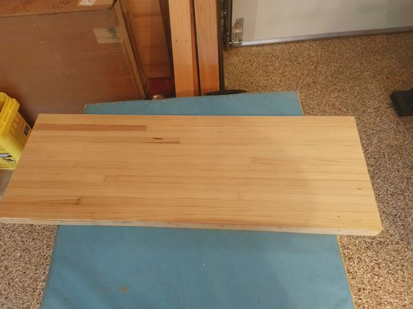 Pre sanded bowling lane for a prospective table maker