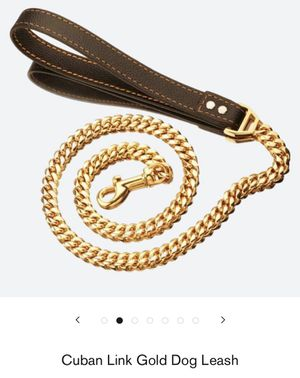 Cuban Link Gold Dog Leash for Sale in Antioch, CA