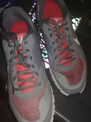 Nike Men's Reax Run 9 Running Shoes Size:10.5 US Drk Gry/Mtllc Slvr/Gym Rd/Whit for Sale in Denver, CO