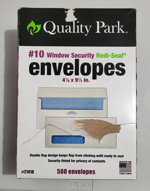 New 500 Envelopes, Security Window, Redi-Seal, #10 for Sale in Bunker Hill, WV