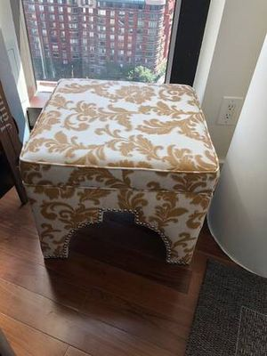 2 marigold/ivory ottomons for Sale in New York, NY