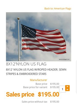 Brand new 8x12 US flag for Sale in Buckeye, AZ