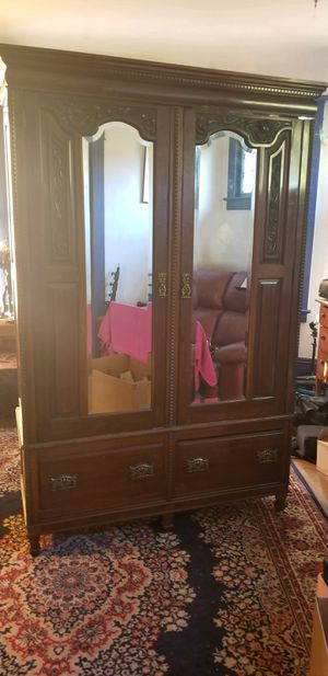 Antique Armoire made of hardwood and cedar for Sale in Seattle, WA