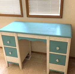Beautiful White And Blue Desk / Vanity for Sale in Seattle,  WA