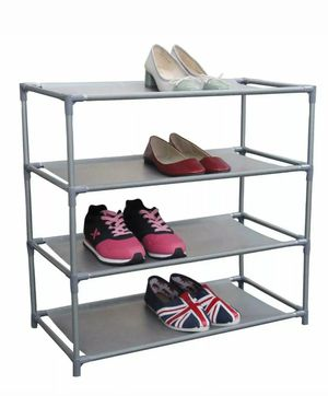 Home Basics NEW 12 Pair Free-Standing Shoe Rack, 4-Tier - SR49180 for Sale in Brooklyn, NY