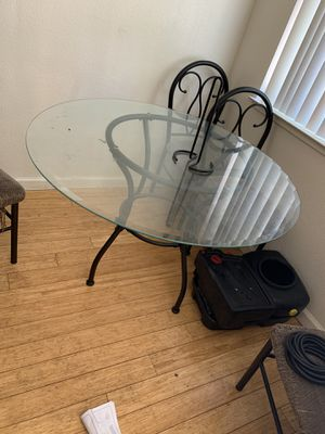 Glass table for Sale in Chico, CA
