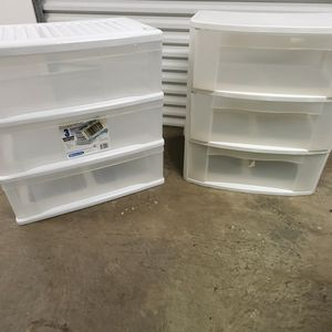 Set Of 3 Wide Plastic Drawers for Sale in Humble, TX