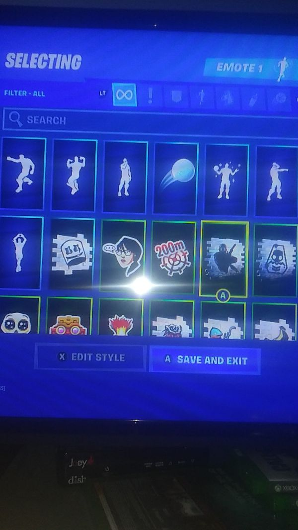 56 skins plus the glow skin and 26 dances and 47 pickax and rank 204. or i add in a nother account for 170 it has 20 skins