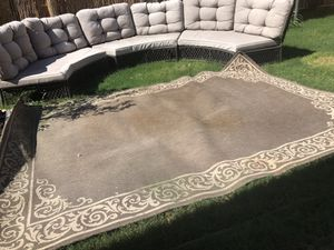 3 piece outdoor patio furniture/with or without rug for Sale in Mansfield, TX
