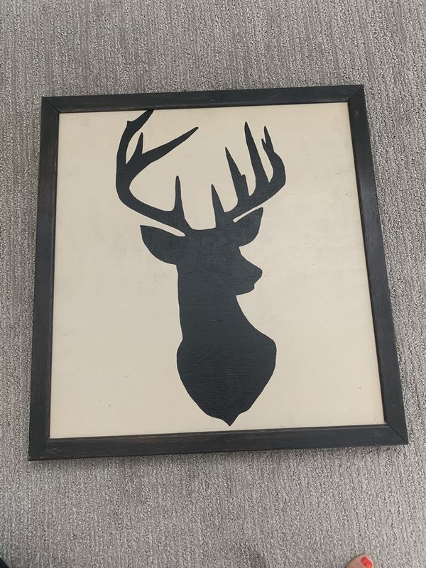 Deer wood wall art
