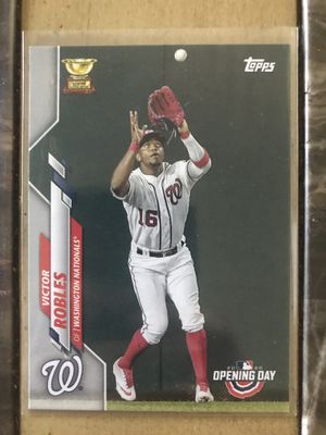Victor Robles Rookie Gold Cup Topps 2020 Opening Day Rookie Card for Sale in Calumet City, IL