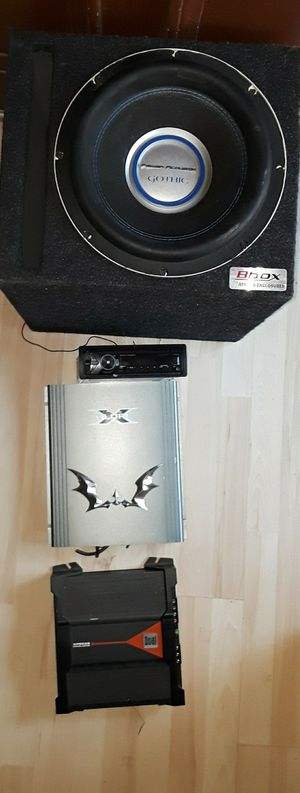 AWESOME CAR SYSTEM 2500W GOTHIC WOOFER SONY STEREO & 2 AMPLIFIERS for Sale in San Bernardino, CA