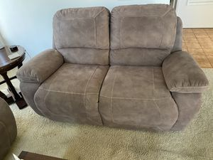 Suede Recliner Loveseat for Sale in San Marcos, CA
