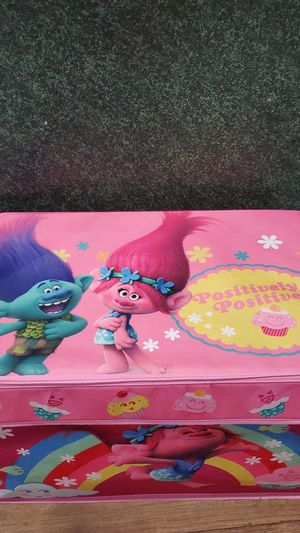 Trolls cloth Toybox storage toy box for Sale in St. Petersburg, FL