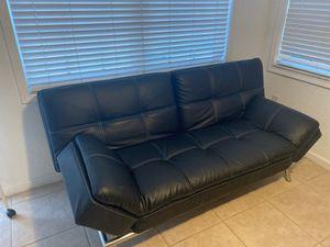 Leather futon for Sale in Miramar, FL