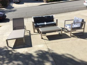 Patio Set Metal Couch, lounge, Chair & Table Brand New for Sale in Walnut, CA