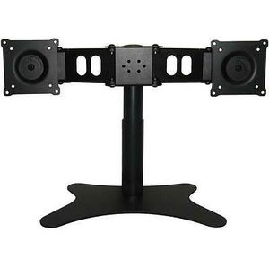 """New DoubleSight Dual Monitor Flex Stand Fully Adjustable Height Tilt Pivot Free Standing, VESA 75mm/100mm, up to 19"""" Monitors for Sale in Vista, CA"""
