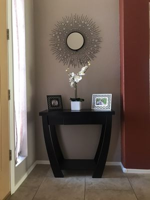 Black Console Table with Mirror for Sale in Glendale, AZ