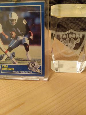 Tim brown rc..bo jackson ..heavy glass for Sale in Highland, CA