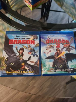 How to train your dragon blu rays 1&2 for Sale in Lacey, WA