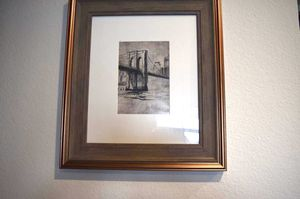 Wall painting with a wooden and bronze frame for Sale in Highlands Ranch, CO