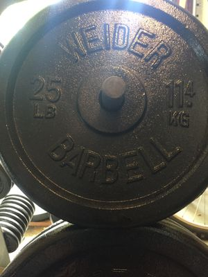 WEIDER BARBELL 25 lb Standard Weight Plates $100/pair for Sale in Medina, OH