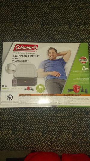 Coleman twin air mattress w/ pump for Sale in North Las Vegas, NV