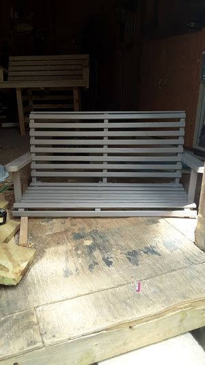 Grey porch swing for Sale in Lawrenceville, GA