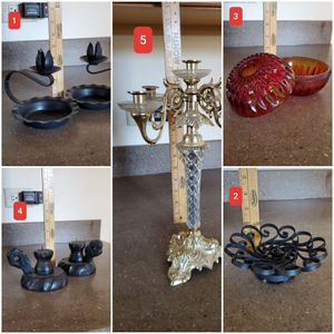Metal Wood Candle Holder, Taper Candle, Votive Candle, Column Candle $PRICE PER ITEM for Sale in Downers Grove, IL
