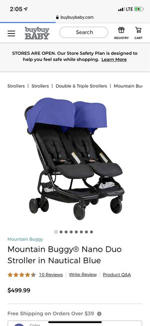 Mountain Buggy Nano Duo Double Stroller for Sale in Brentwood, TN