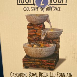 Brand NEW Cascading Bowl Brick LED Fountain( Small) for Sale in Long Beach, CA