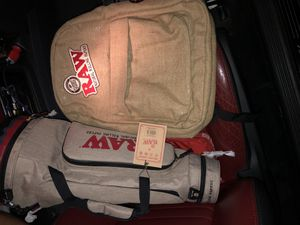 Raw Smell Proof BackPack And Smell Proof Joint Duffle Bag 🔥🔥(NEW) for Sale in Houston, TX