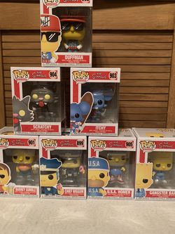 The Simpsons Bundle Pack 7 Pops Full Set  for Sale in Soquel, CA