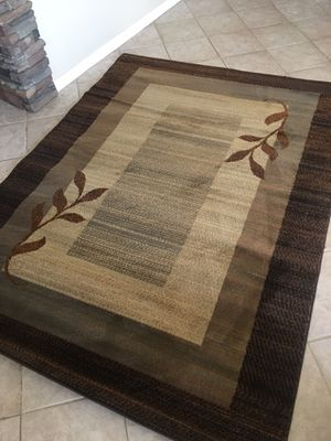 5x7 rug brand new / grey brown accent area rug for Sale in Glendale, AZ