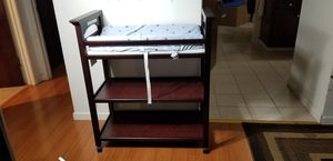 Graco Lauren Changing Table (Espresso) with changing pad for Sale in San Jose, CA