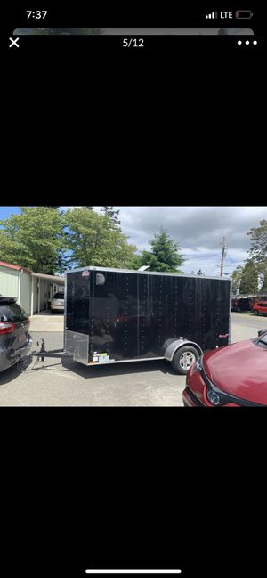 Like new v nose trailer 12 by 6 💥PRICE FIRM PLEASE💥 for Sale in Lakewood, WA