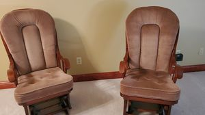 Queen and rockers beautiful condition solid wood price is for both rockers for Sale in North Canton, OH