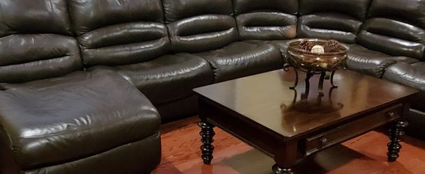 Sectional, Coffee table & end tables... for Sale in Morrisville,  PA