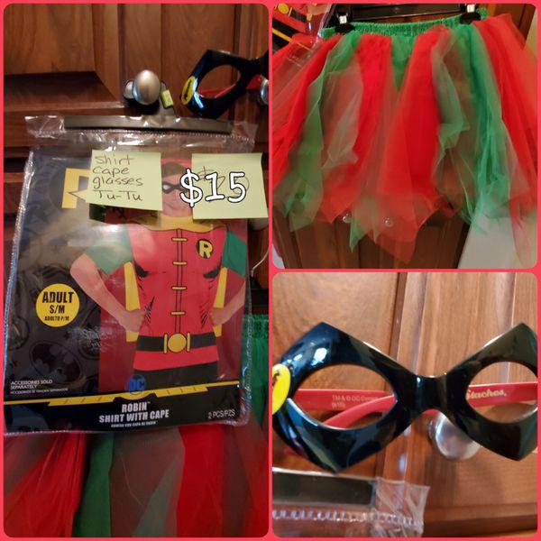Robin Shirt, cape, glasses and TUTU!