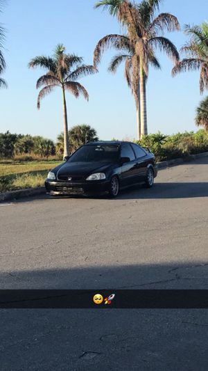 1999 ek coupe ej8 honda civic b18b1 on boost for Sale in Palm Springs, FL
