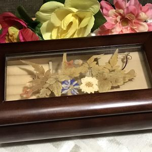 Vintage Bombay Wood & Glass Music Jewelry Box for Sale in Wimauma, FL