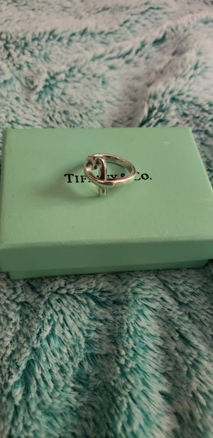 Tiffany & co Open heart ring size 6 for Sale in Fairfield, CA