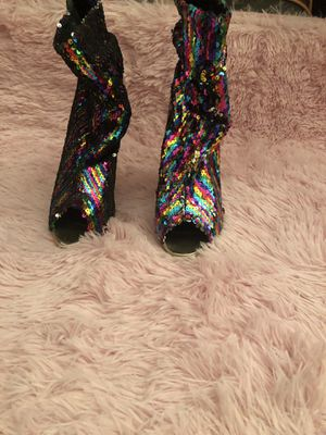 Multi color slouch boots size 11( runs small) fits 9.5 for Sale in Bowie, MD