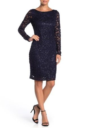 MARINA Sequin Lace Long Sleeve Sheath Dress for Sale in Joliet, IL