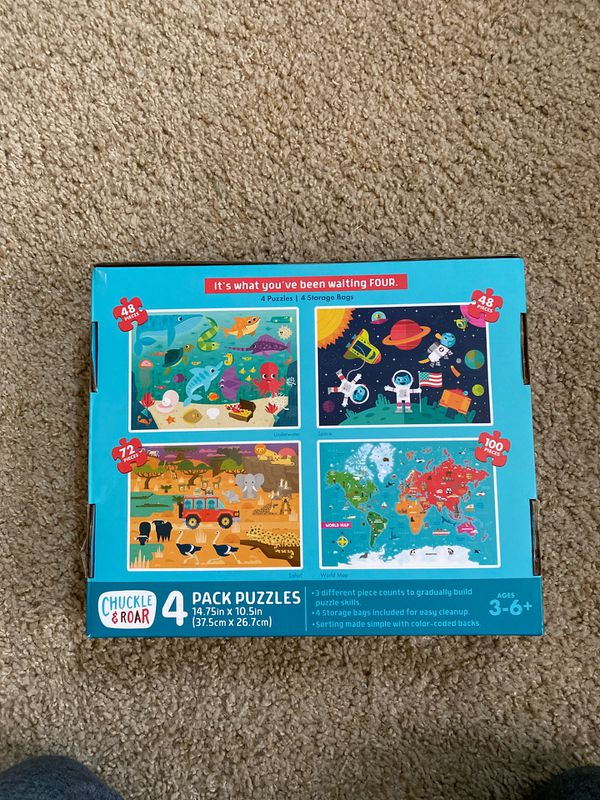 Buffalo Games Chuckle & Roar 4 pack puzzles