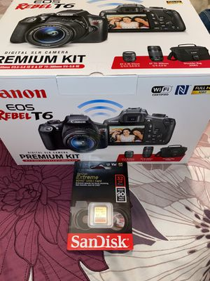 Canon EOS Rebel T6 DSLR Camera with 18-55mm & 75-300mm Lenses and bag for Sale in Livermore, CA