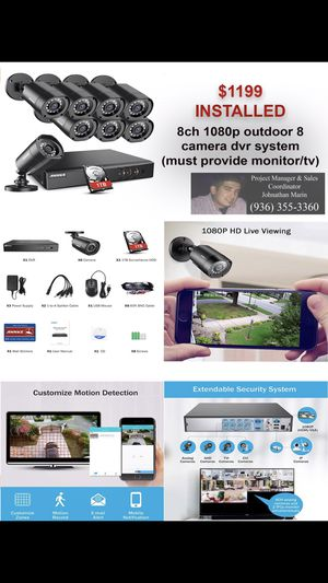 SECURITY CAMERAS, ALARMS, AUTOMATIONS & MORE! for Sale in Houston, TX