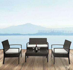 SHIPPING ONLY 4 Piece Patio Furniture Set w/Chairs Coffee Table and Couch for Sale in Las Vegas, NV